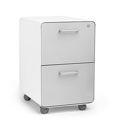 Poppin Stow Rolling 2-Drawer Filing Cabinet – Available in 5 Colors