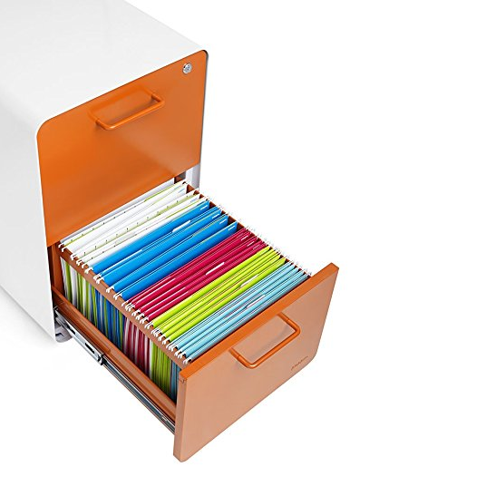 Poppin Rolling 2-Drawer File Cabinet