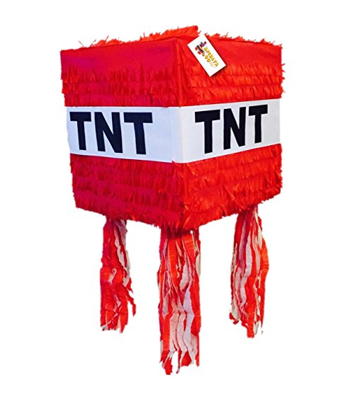 APINATA4U TNT Piñata Red Color – Fully Assembled – Traditional Piñata