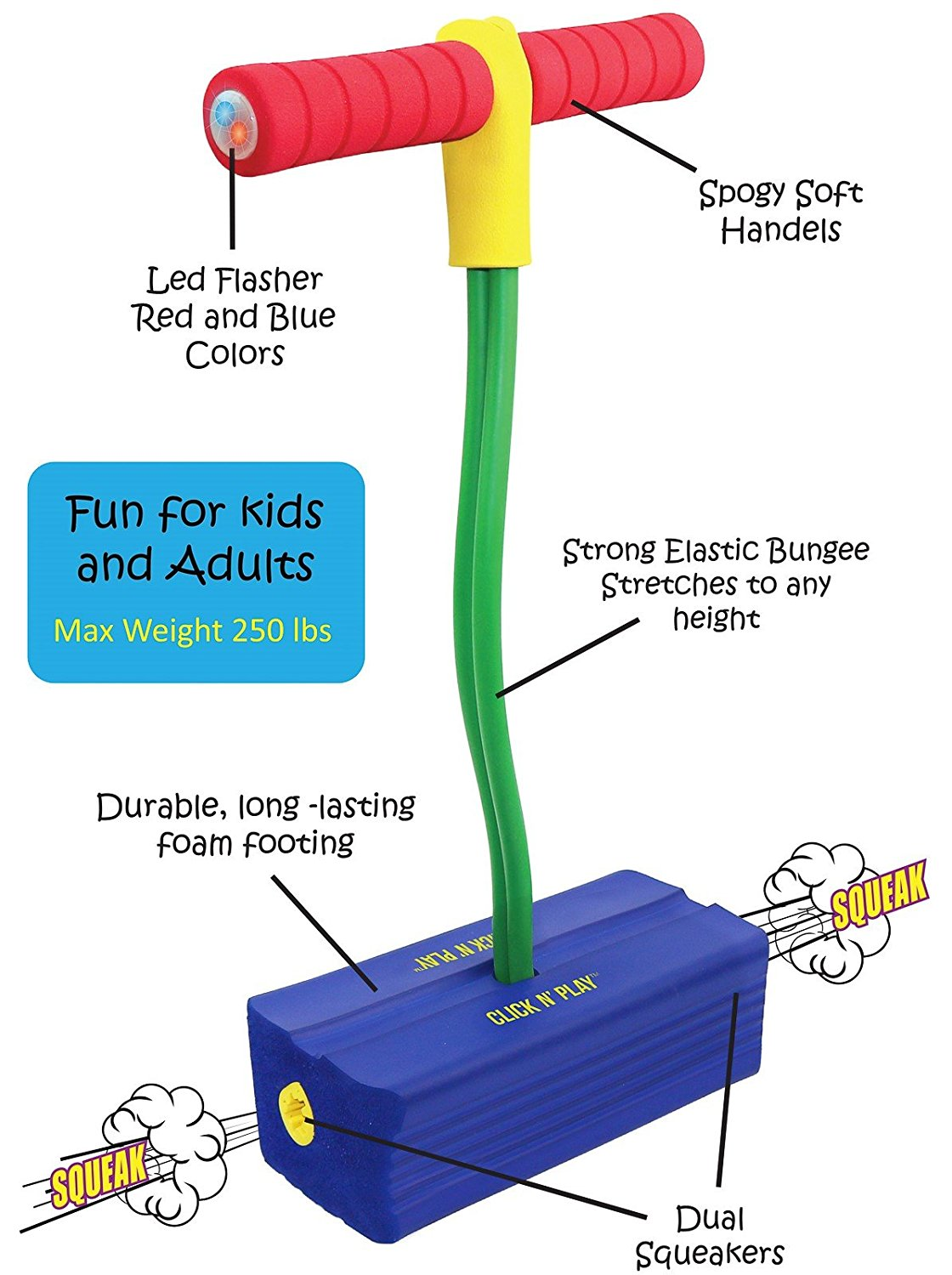 Click n' Play Foam Pogo Jumper