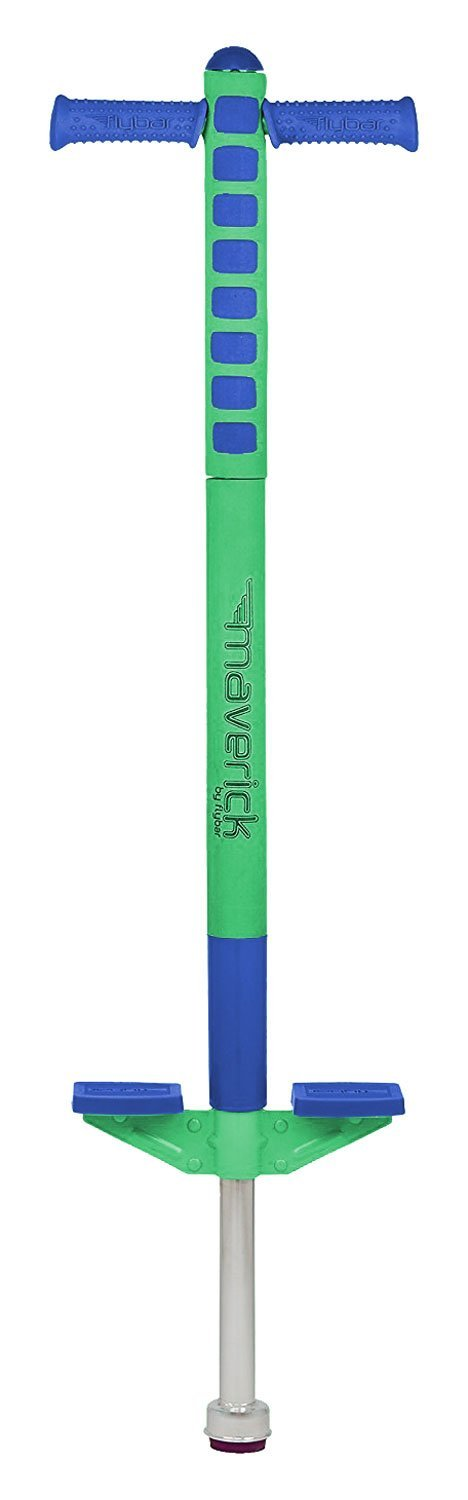 Flybar 2017 Limited Edition Foam Maverick Pogo Stick for Boys & Girls, Ages 5-9 – Comes with New 'Rubber' Grip Handles, Available in 2 Color Options