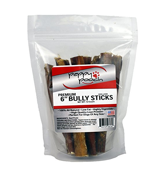 Peppy Pooch Bully Stick Dog Treats
