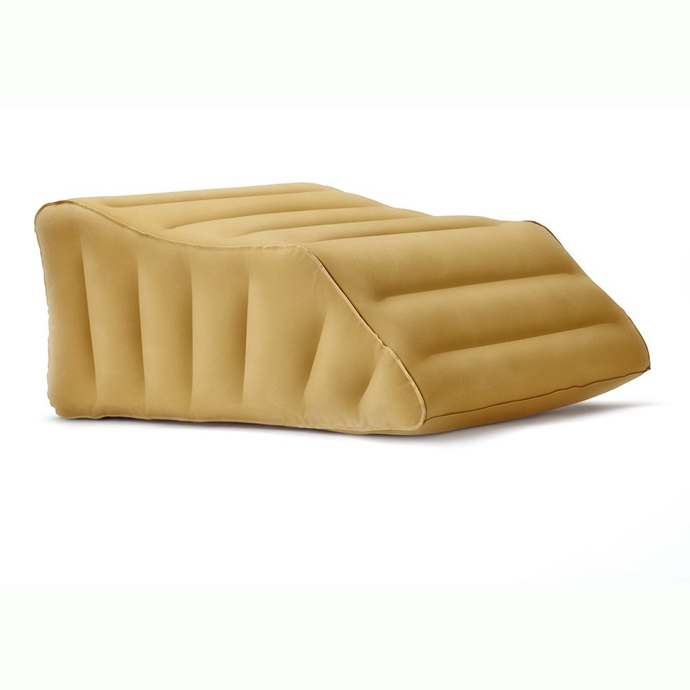 Lounge Doctor Elevating Leg Pillow - Compact When Not Inflated, Made from PVC with Suede Finish, Available in 3 Sizes