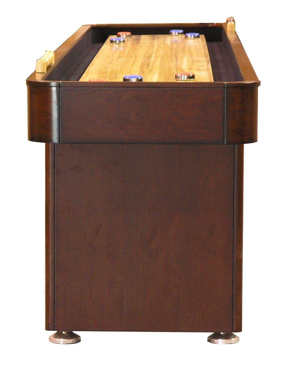 Fairview Game Rooms 12-Foot Shuffleboard Table with Butcher Block Playfield – Available in 2 Colors