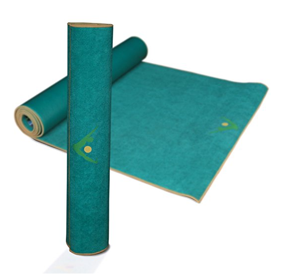 Aurorae 5mm Thick Synergy Hot Yoga Mat with Integrated Microfiber Towel – Available in 5 Colors