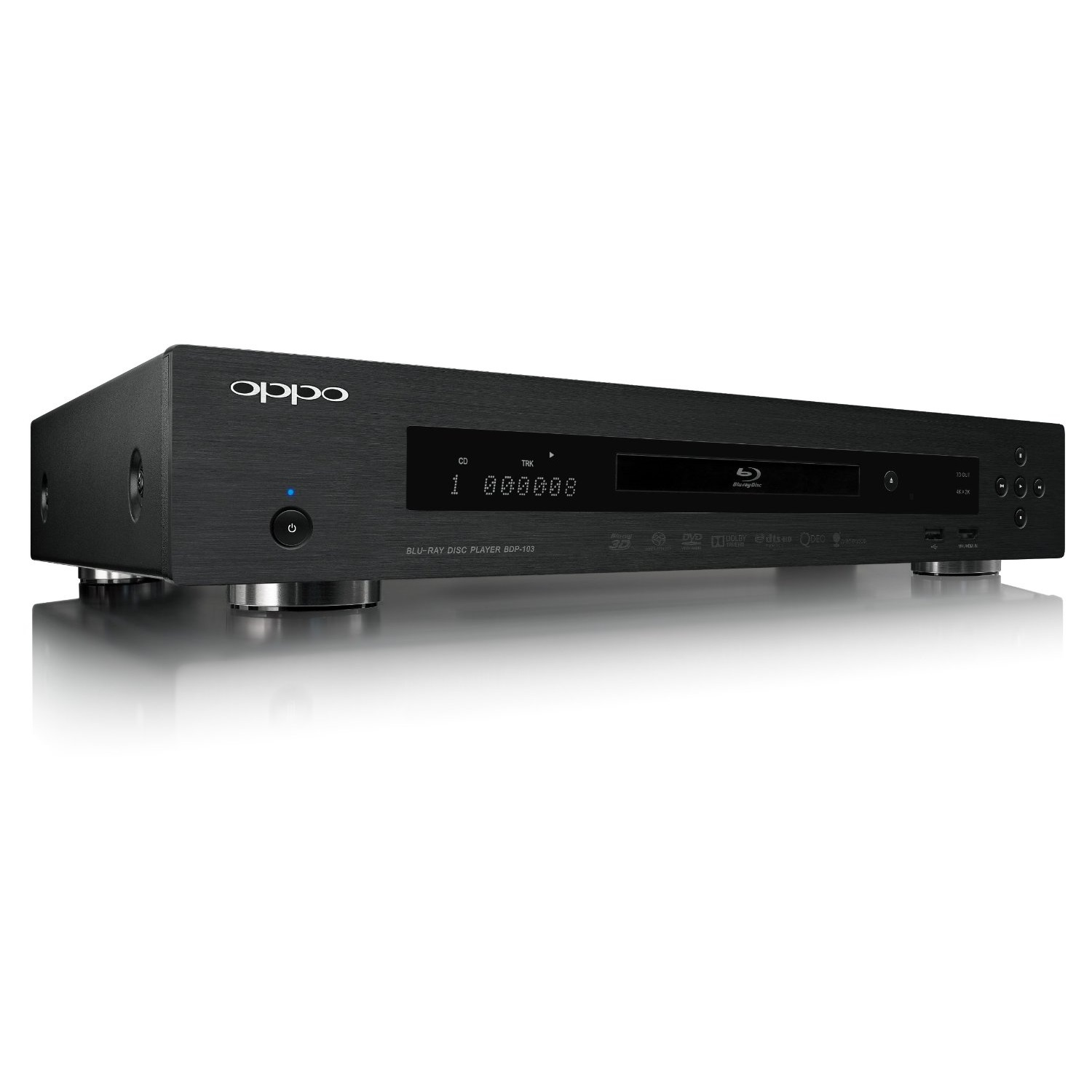OPPO BDP-103 Universal Network 3D Blu Ray DVD Player