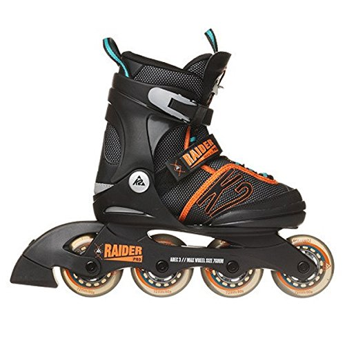 K2 Skate Boy's Raider Pro Inline Skates - K2 Speed Lacing System, 2 Sizes and 2 Colors Available
