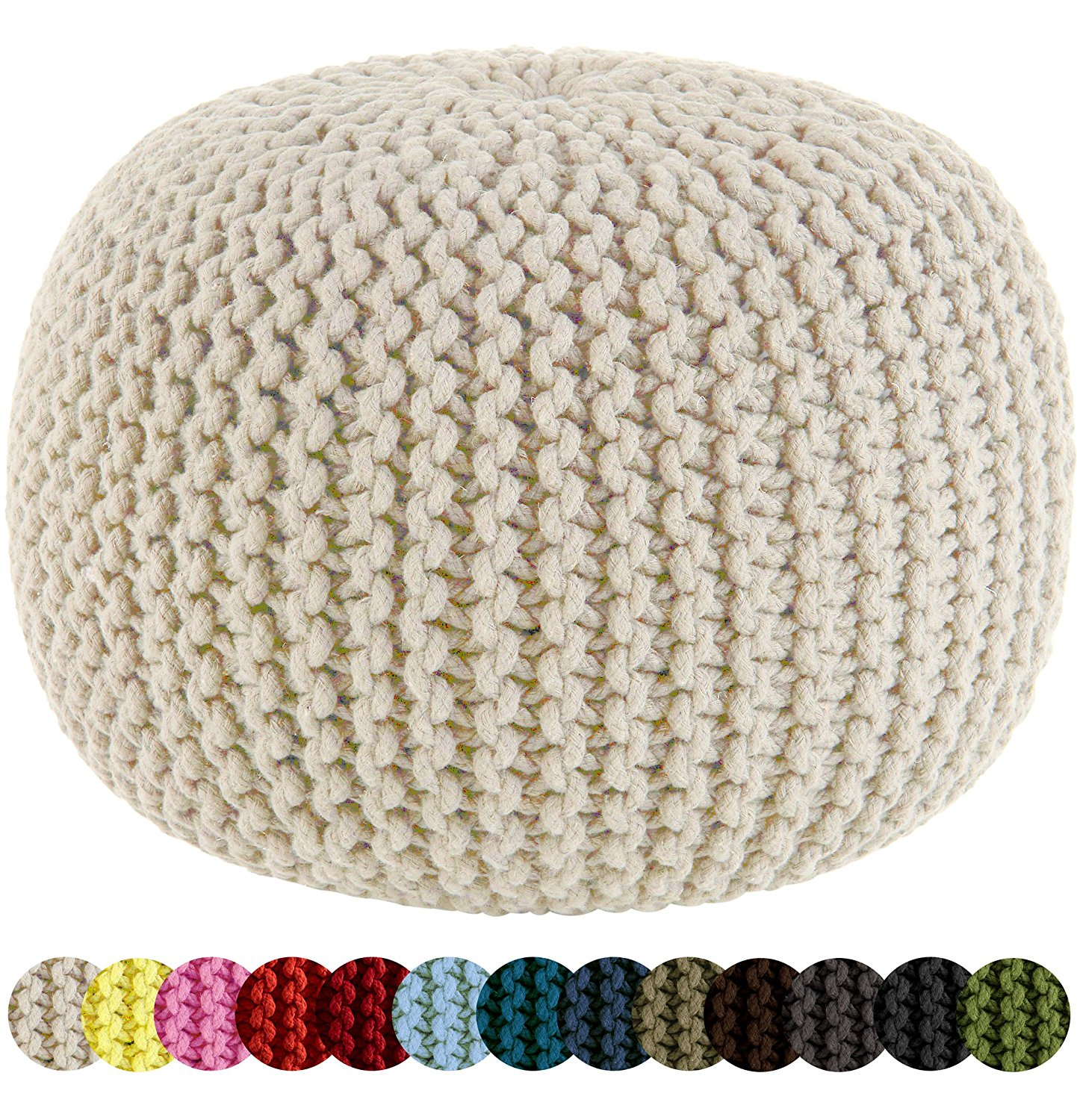 Cotton Craft Hand Knitted Ottoman