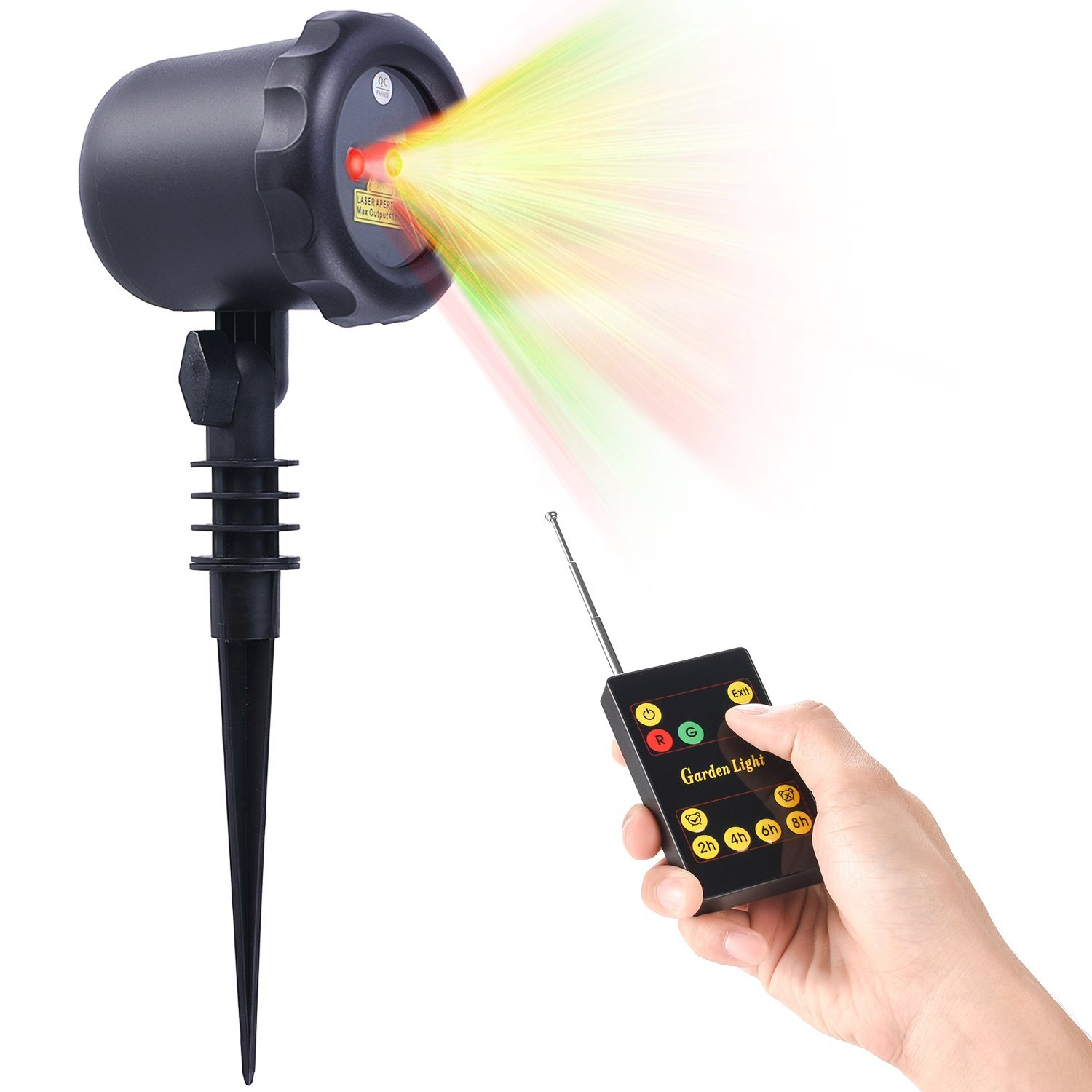Beleef Laser Christmas Light with RF Remote Control - Waterproof Cold resistant, Outdoor and Indoor, 3 Colors Available