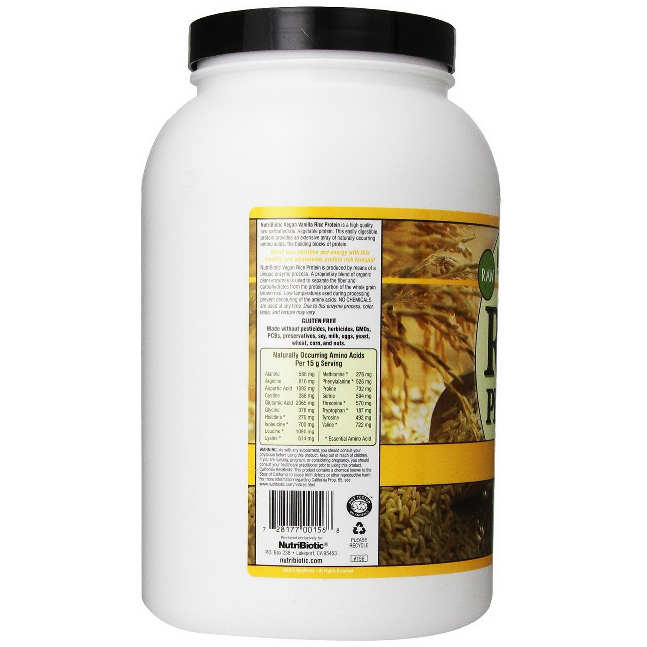 Nutribiotic Rice Protein Powder - Vegan