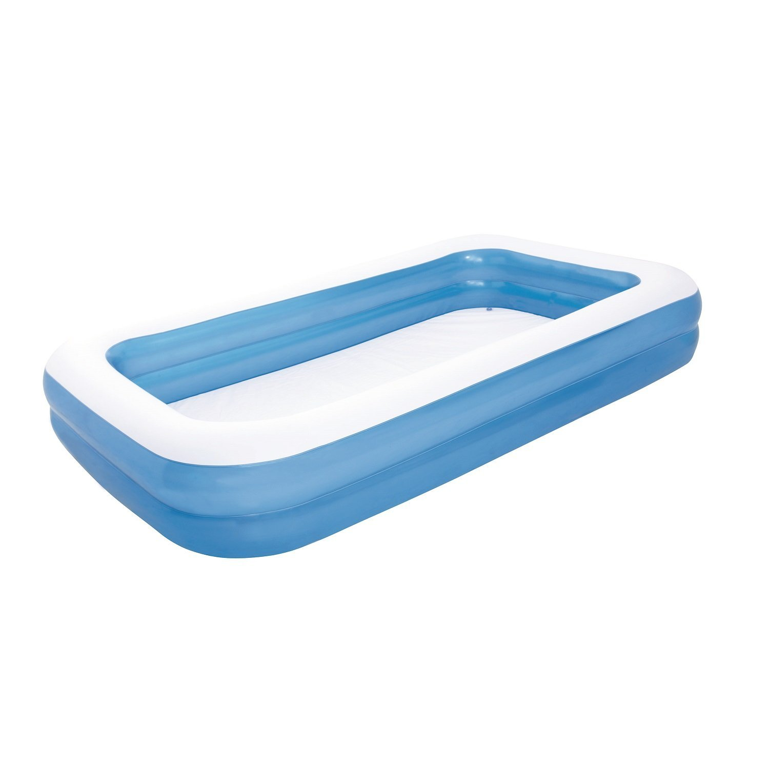 Bestway Rectangular Family Pool – Easy-to-Use Drain Valve, 224 Gallons Capacity, Sturdy Consruction