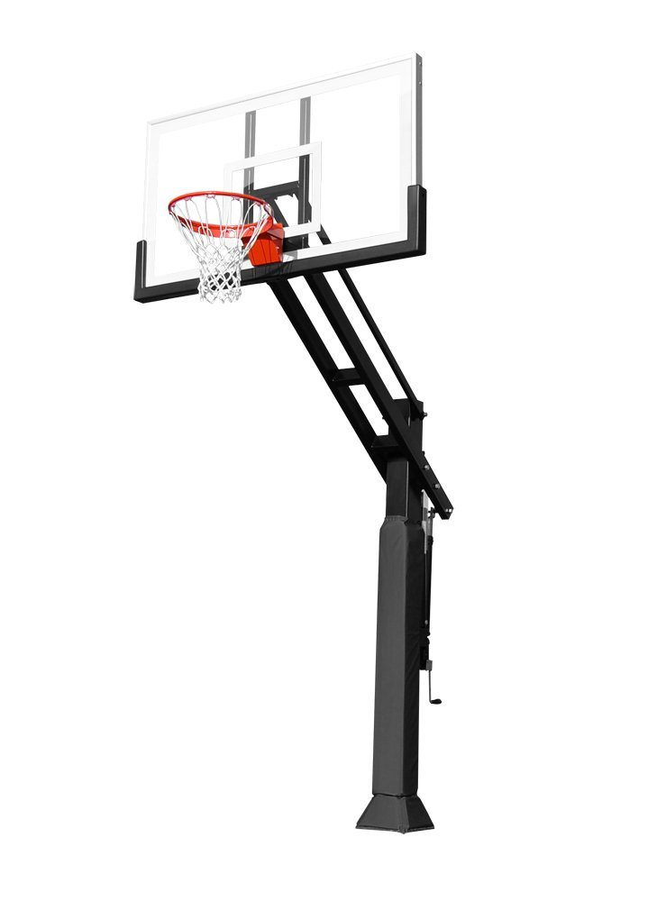 Pro Dunk Hoops Gold Basketball System – Tempered Glass Backboard, Handle Adjustment