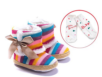 LIVEBOX Premium Cotton Knit Baby Winter Snow Boots with Soft  Anti-Slip Sole – Available in 3 Sizes & 19 Colors