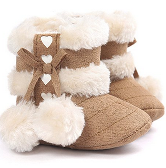 Voberry Fur Trimmed Baby Snow Boot