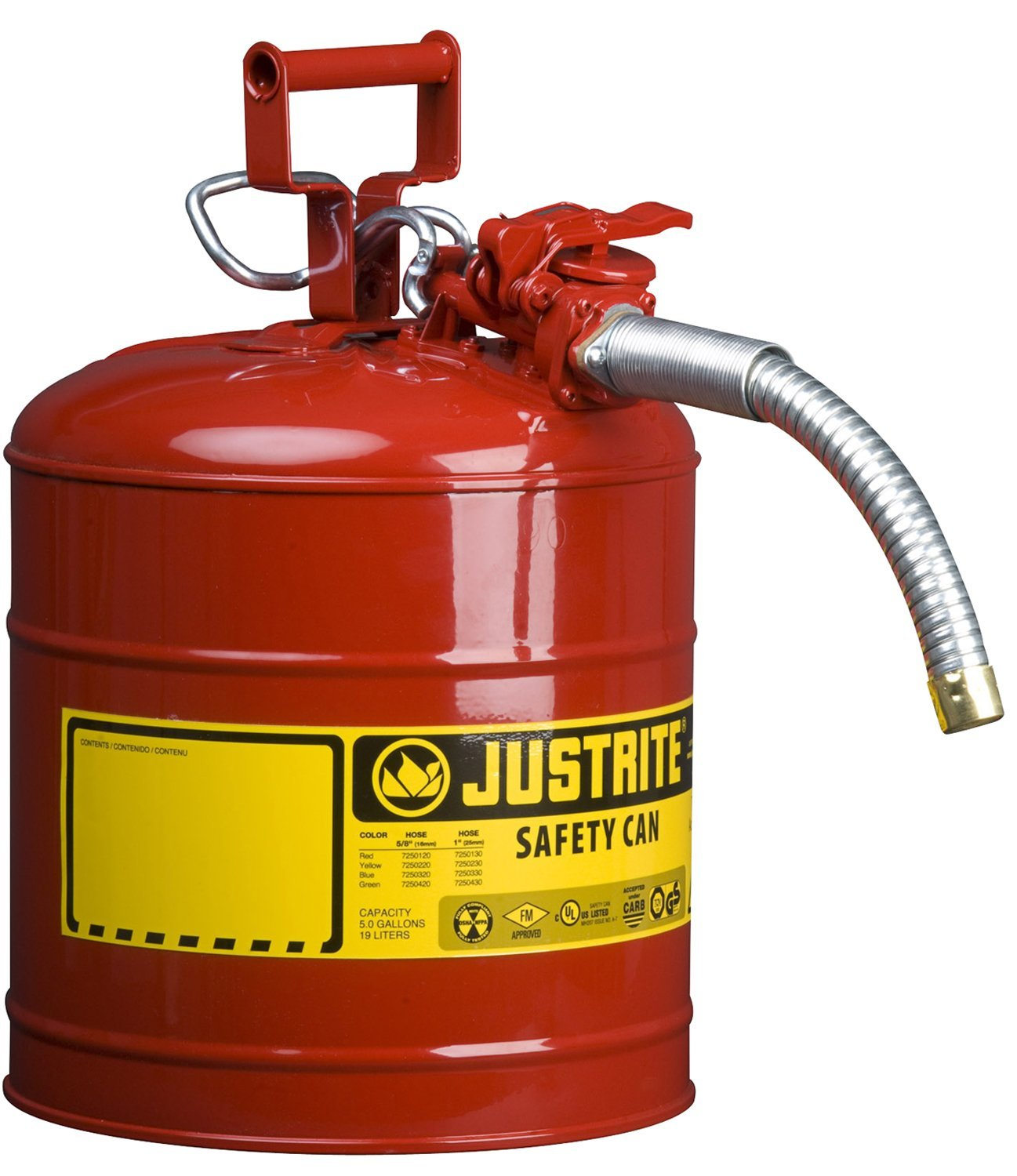Justrite 5 Gallon Accuflow Safety Gas Can