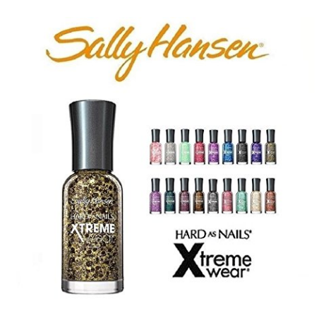 Sally Hansen Hard as Nails Xtreme Wear Fingernail Polish Set -  10 Different Colors, No Repeats