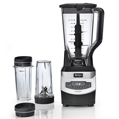 Ninja® Professional Blender 1100 Watts –  16 oz. Personal Blender Bullet Cups, Total Crushing Blades, 2 to-go Lids, Dishwasher Safe