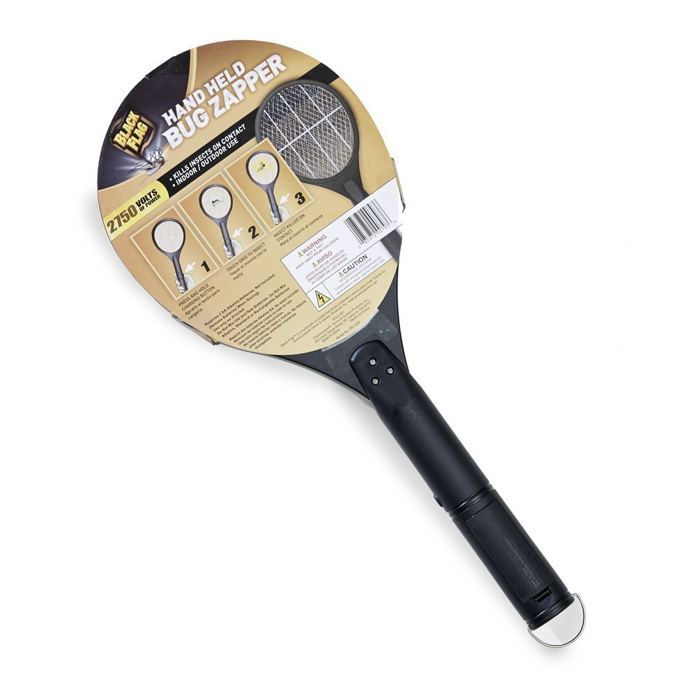 Black Flag Handheld Mosquito Racket