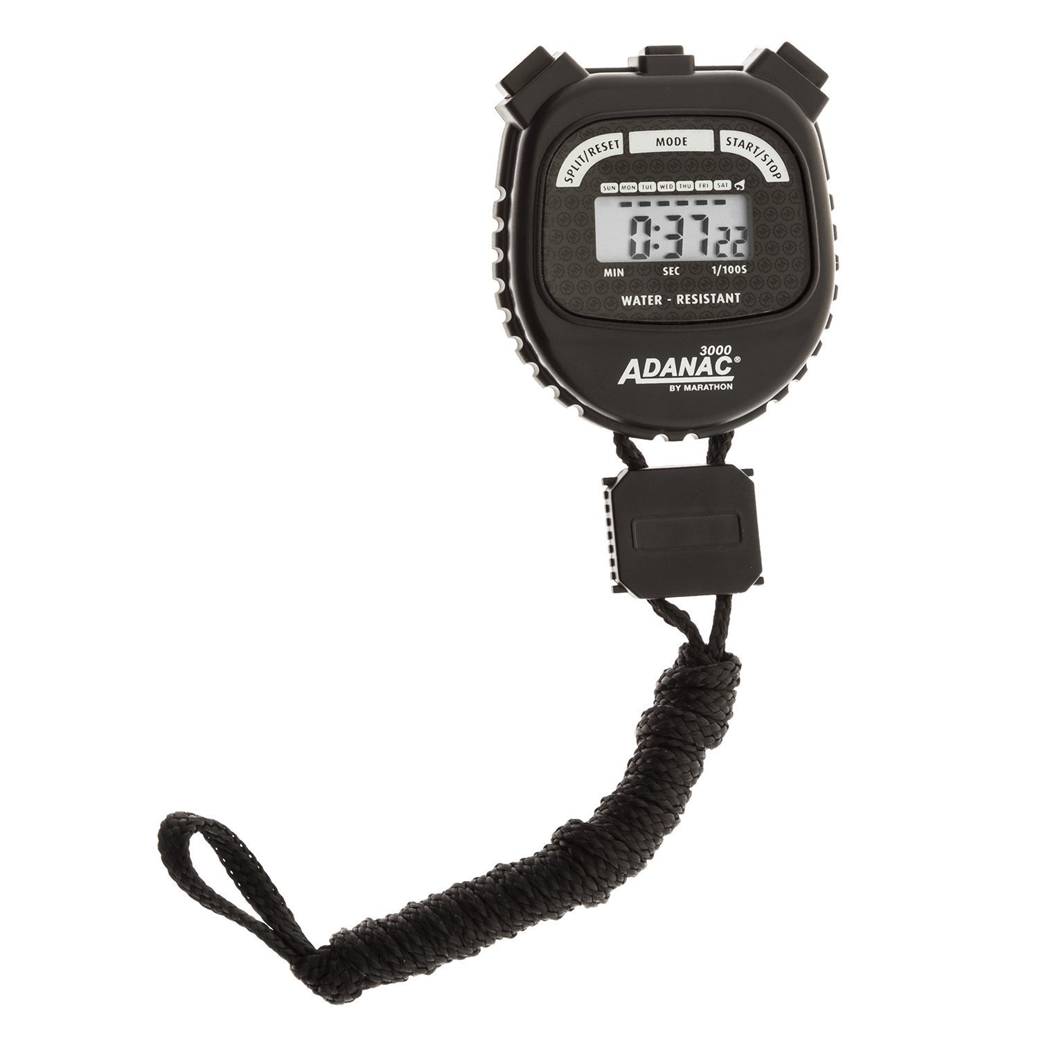 Marathon Water Resistant Adanac 3000 Digital Stopwatch with Extra Large Display and Buttons – Available in 2 Colors