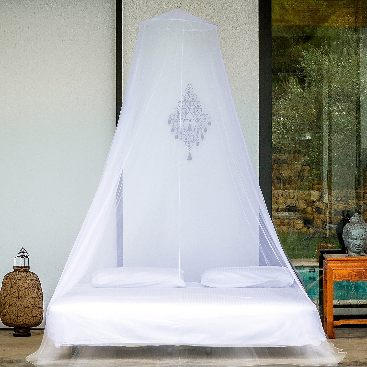 EVEN Naturals Premium Mosquito Net for Double Bed with Gift Bag & eBook