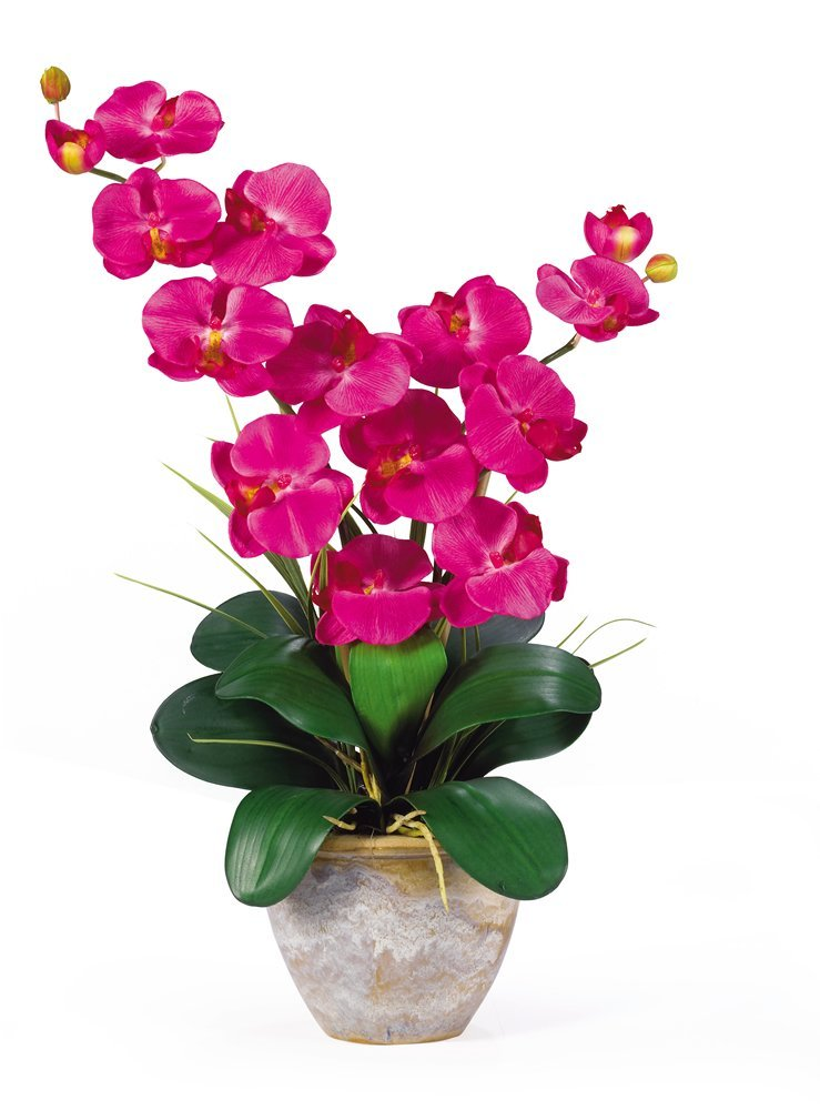 Nearly Natural Silk Orchid Artificial Flowers