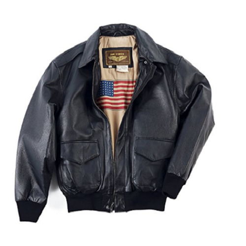Landing Leathers Men's Flight Bomber Jacket