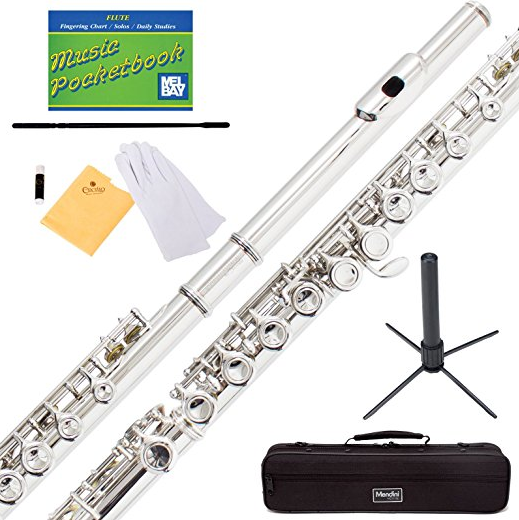 Mendini by Cecilio Nickel Plated Flute
