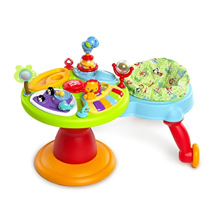 Bright Starts Around We Go 3-in-1 Activity Center – Zippity Zoo, 15+ Activities Including Animal Sounds and Piano Notes