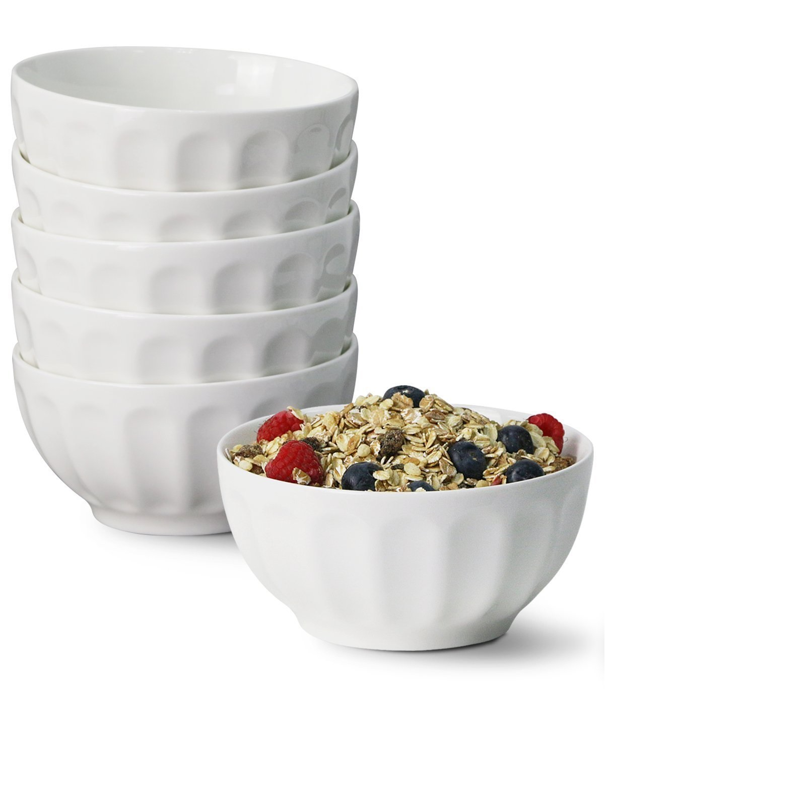 Sweese Porcelain Fluted Cereal Bowls
