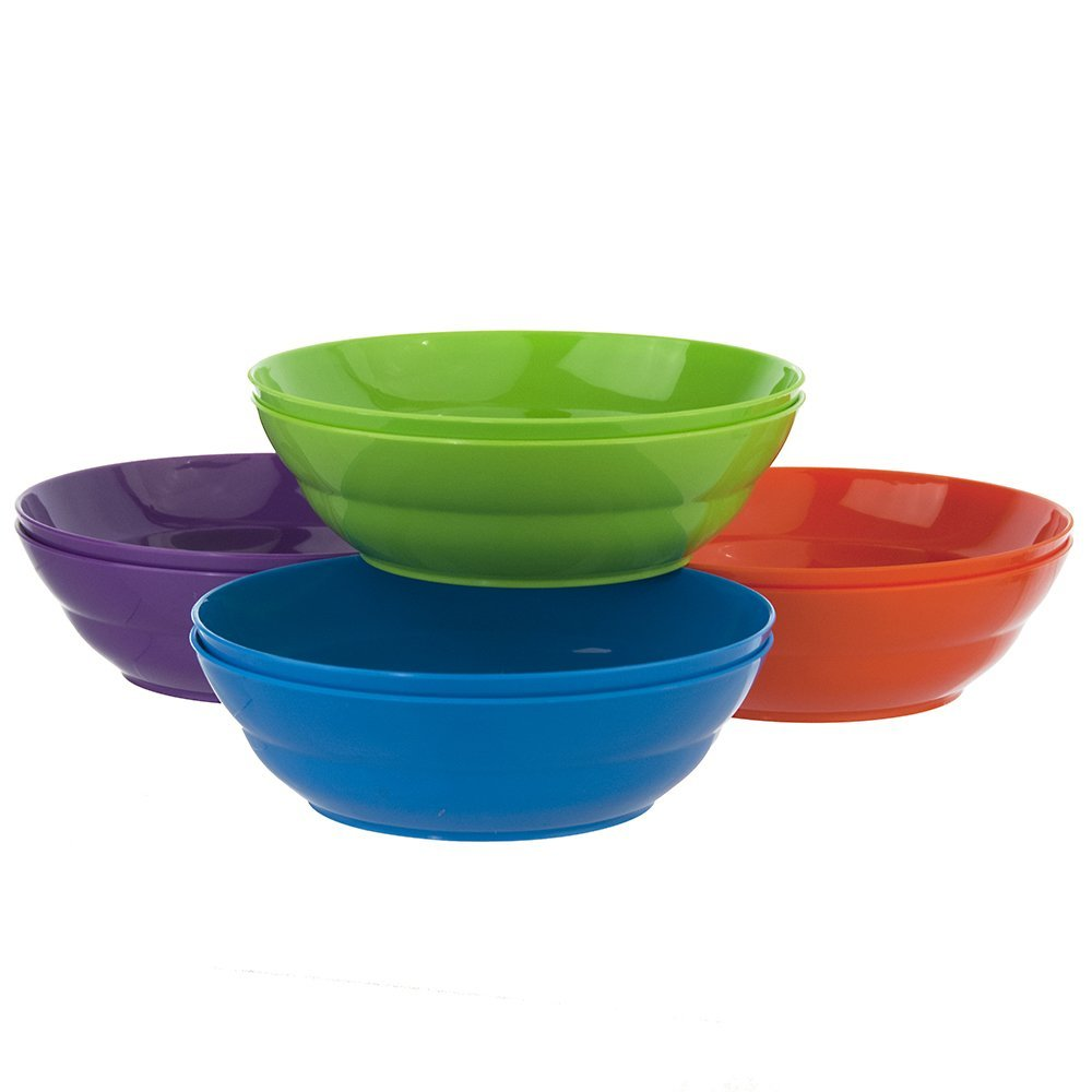 US Acrylic Unbreakable Plastic Cereal Bowls