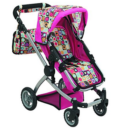 Doll Strollers Pro Deluxe Doll Stroller with a Carriage Bag, an Adjustable Handle and Swiveling Wheels