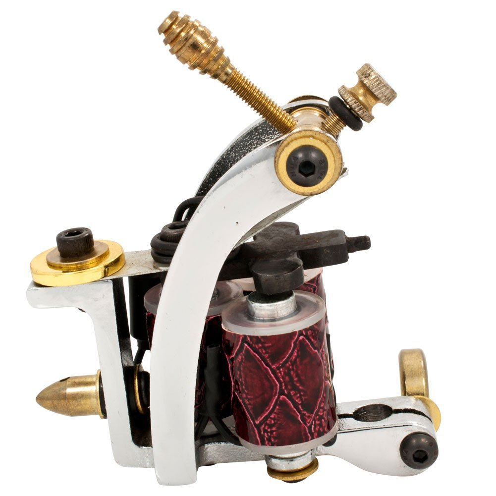 Monster Point Cast Iron Wrap Tattoo Machine
