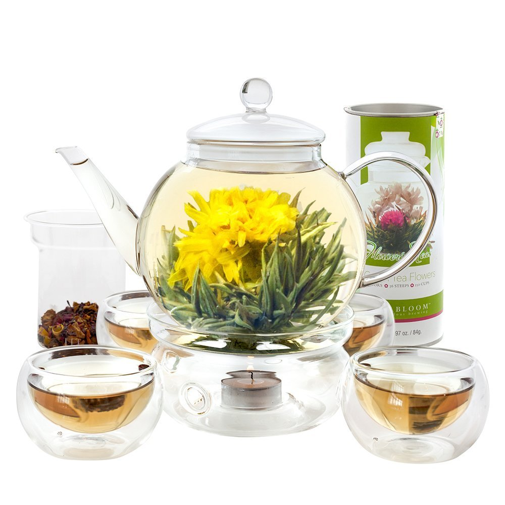 Teabloom Complete Flowering Glass Tea Set
