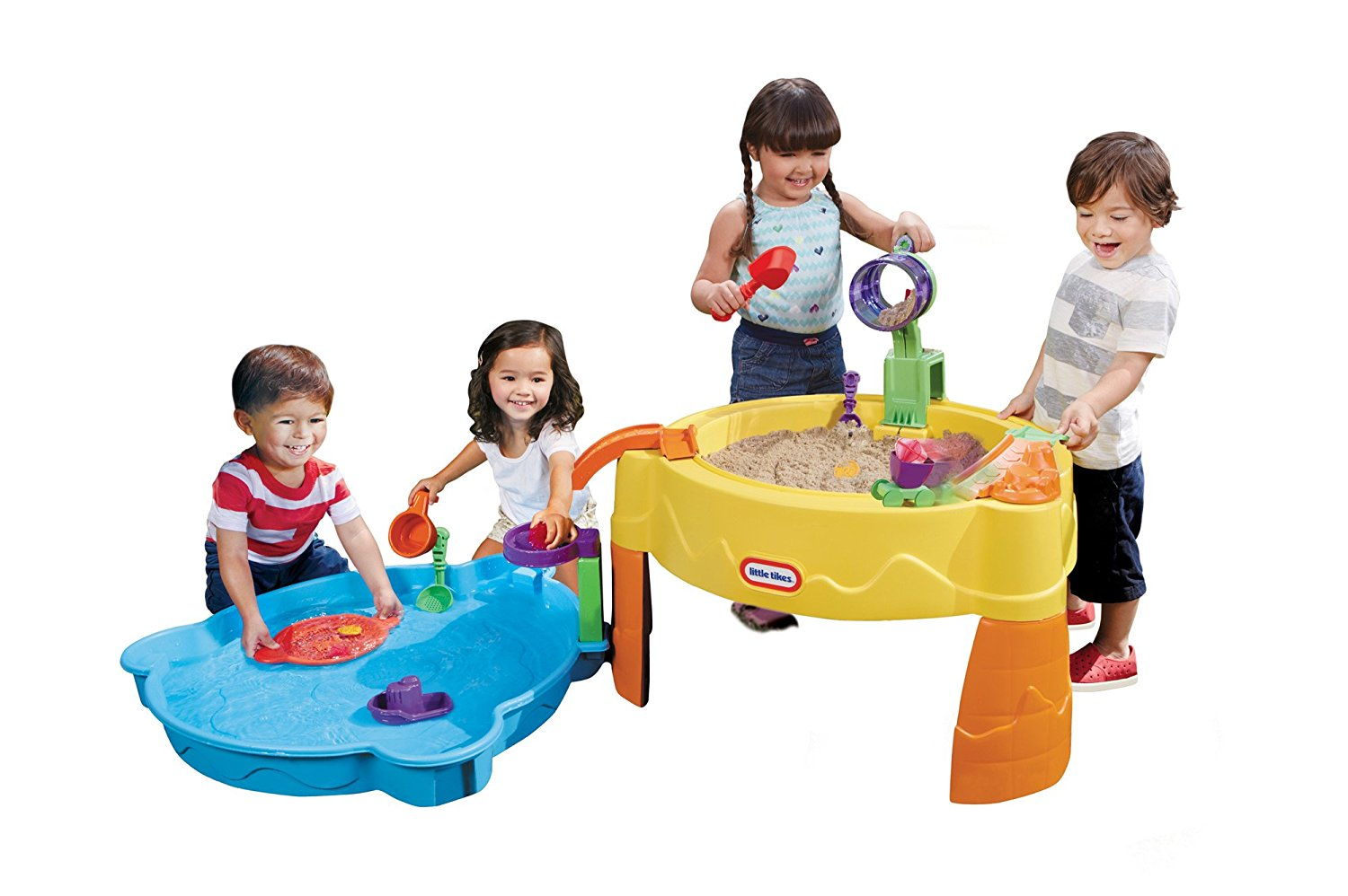 Little Tikes Treasure Hunt Sand and Water Table – Includes 13 Accessories, For Ages 2+