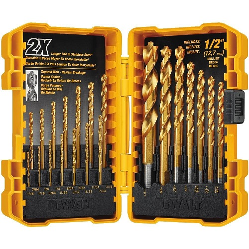 Dewalt 21 Piece Titanium Pilot Point Drill Bit Set