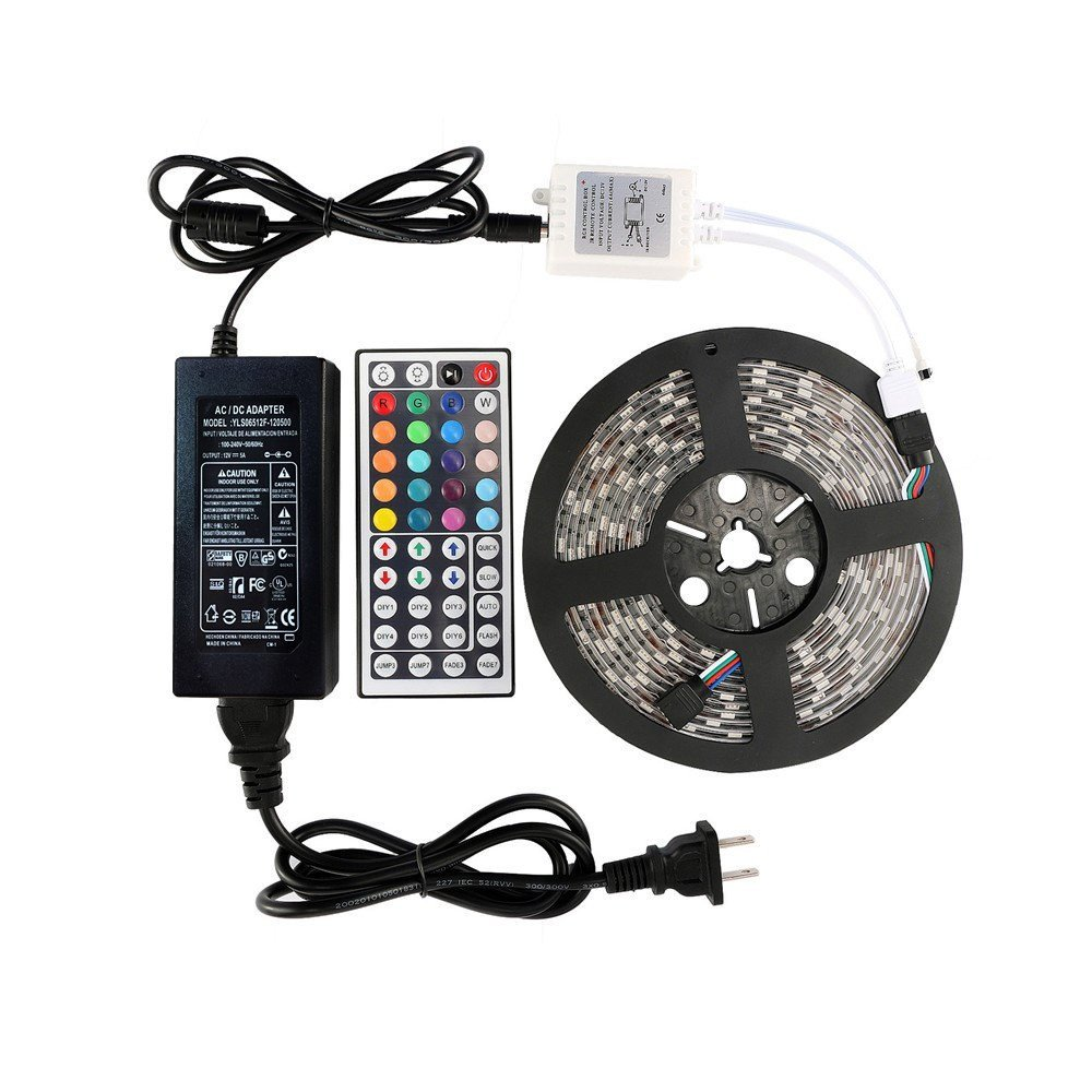 WenTop LED Tape Lights Kit with 300leds 44Key Remote and 12v DC Supply
