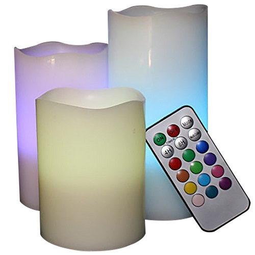 LED Lytes Real Wax Multi Color Flameless Candles