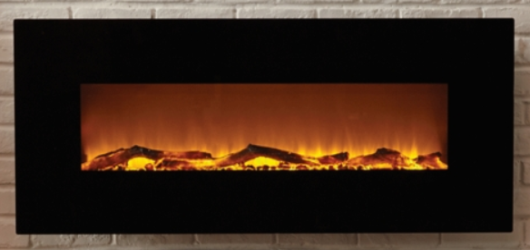 Touchstone Electric Wall Mounted Fireplace – Available in Onyx, White & Mirrored, in Variety of Sizes.