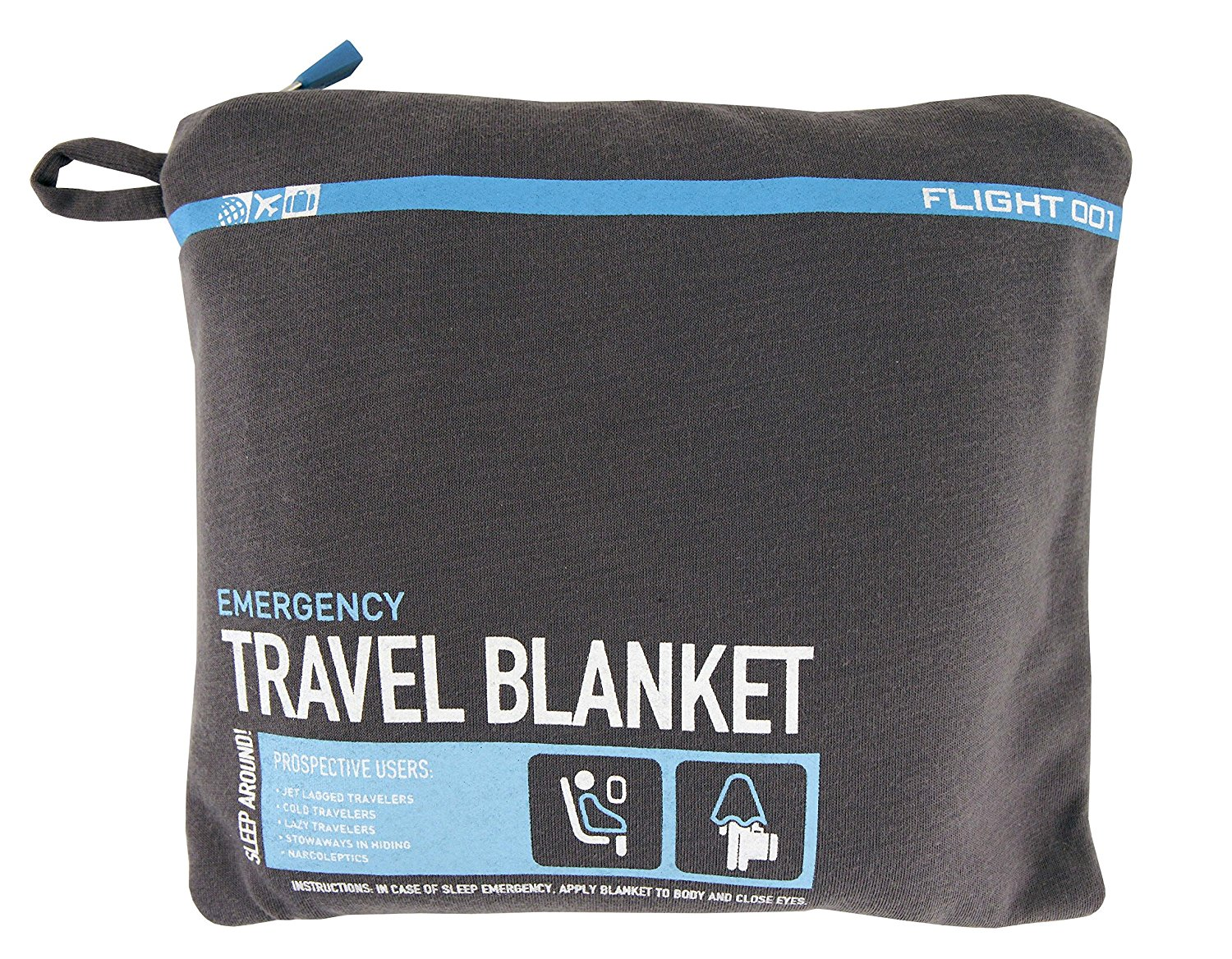Flight 001 F1 Travel Blanket – Made from Soft and Durable Material, Acts as Blanket and Pillow, 4 Colors Available