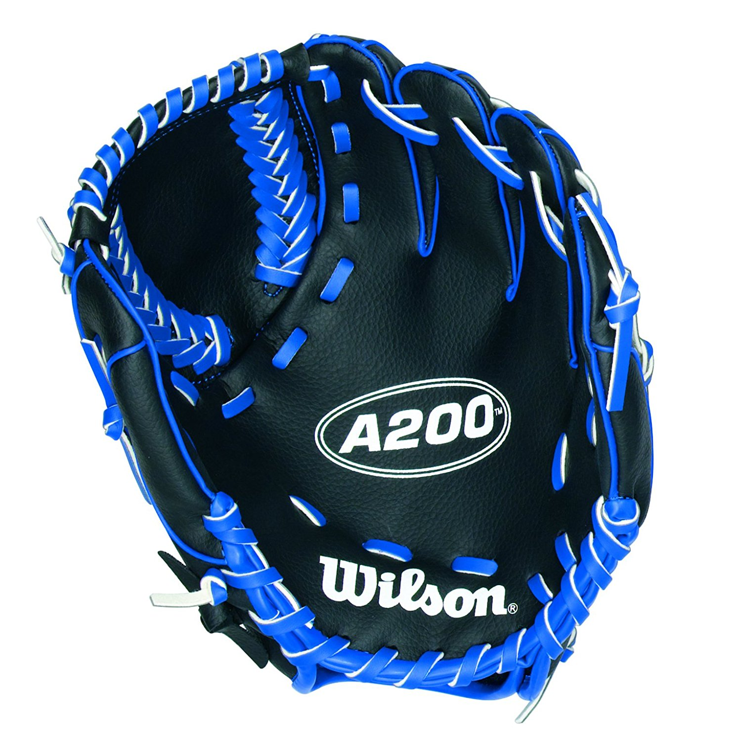 Wilson A200 Series 10 Inch Blue/Black Baseball Mitt