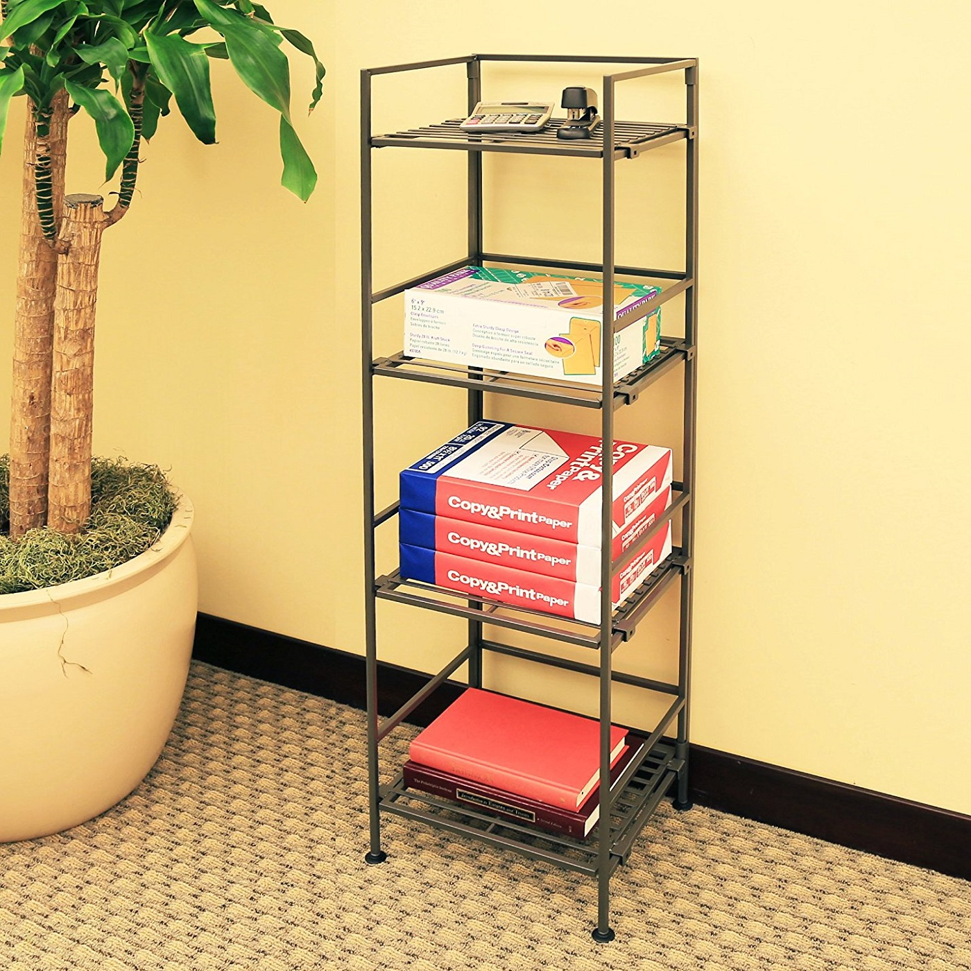 Seville Square 4-Tier Tower Shelving