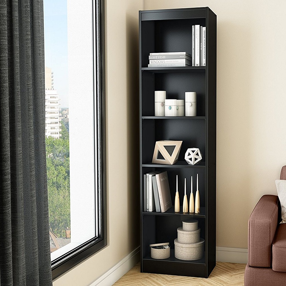 South Shore 5-Shelf Narrow Bookcase