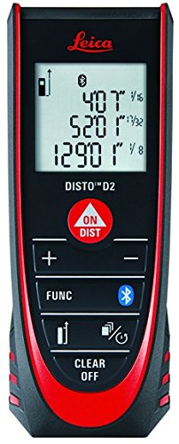 Leica Geosystems Disto D2 Laser Distance Measure – Available With or Without Bluetooth