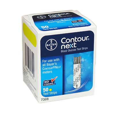 Contour-Next Bayer Blood Glucose Test Strips - Available in 9 Sizes