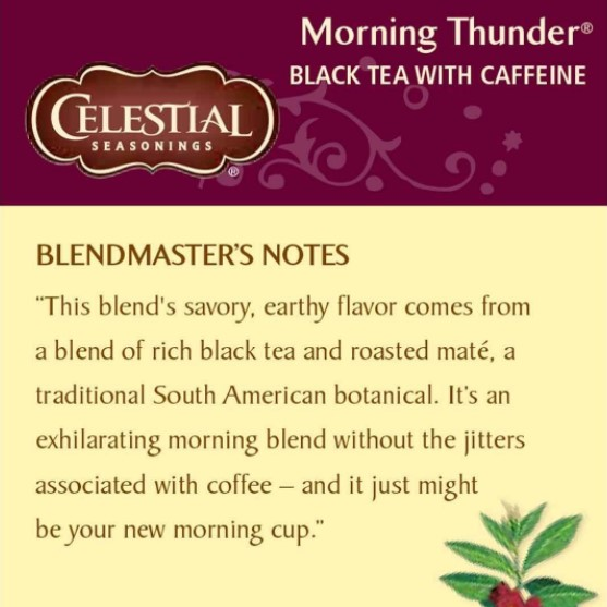 Celestial Seasonings Morning Thunder Tea
