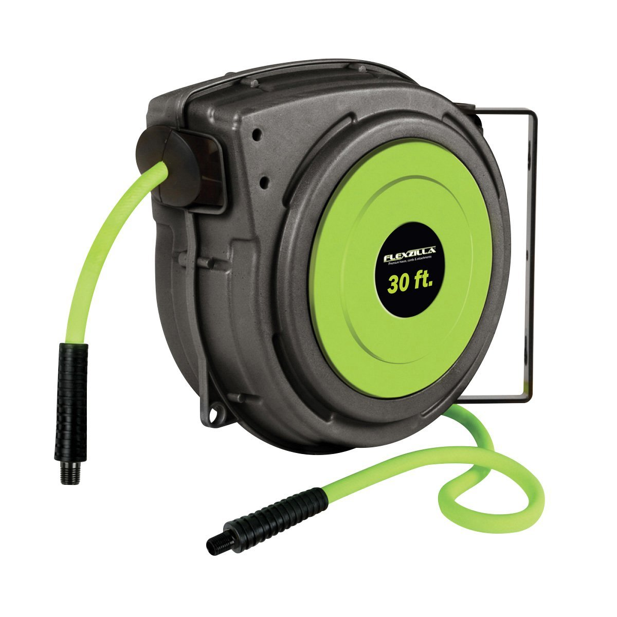 Flexzilla Retractable Enclosed Plastic Air Hose Reel - Heavy Duty and Lightweight Construction, 2 Sizes Available