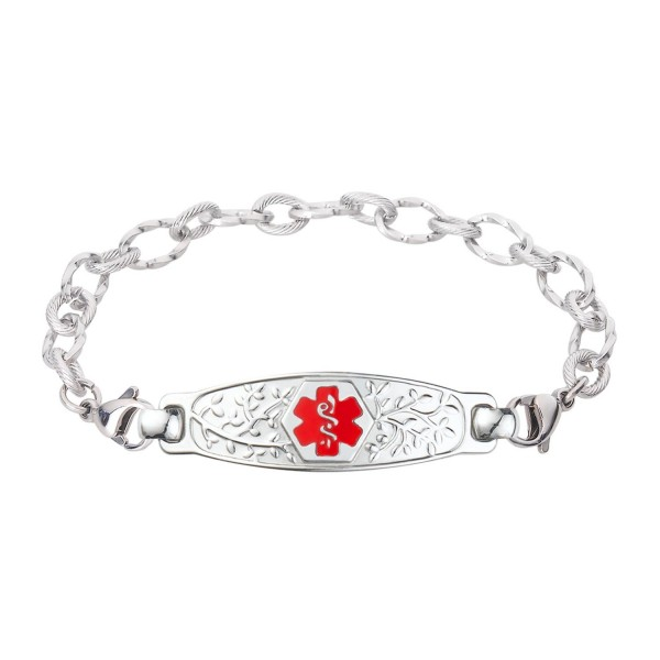 Divoti Custom Engraved Olive Medical Alert Bracelet – Available in 6 Sizes