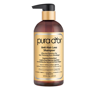 PURA D'OR Anti-Hair Loss Shampoo For Hair Thinning & Breakage - Available in 3 Styles