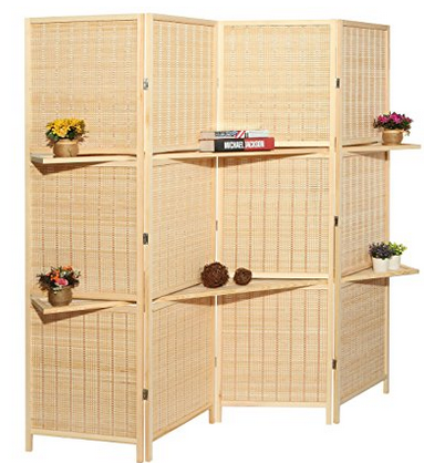 MyGift Deluxe Bamboo Room Divider