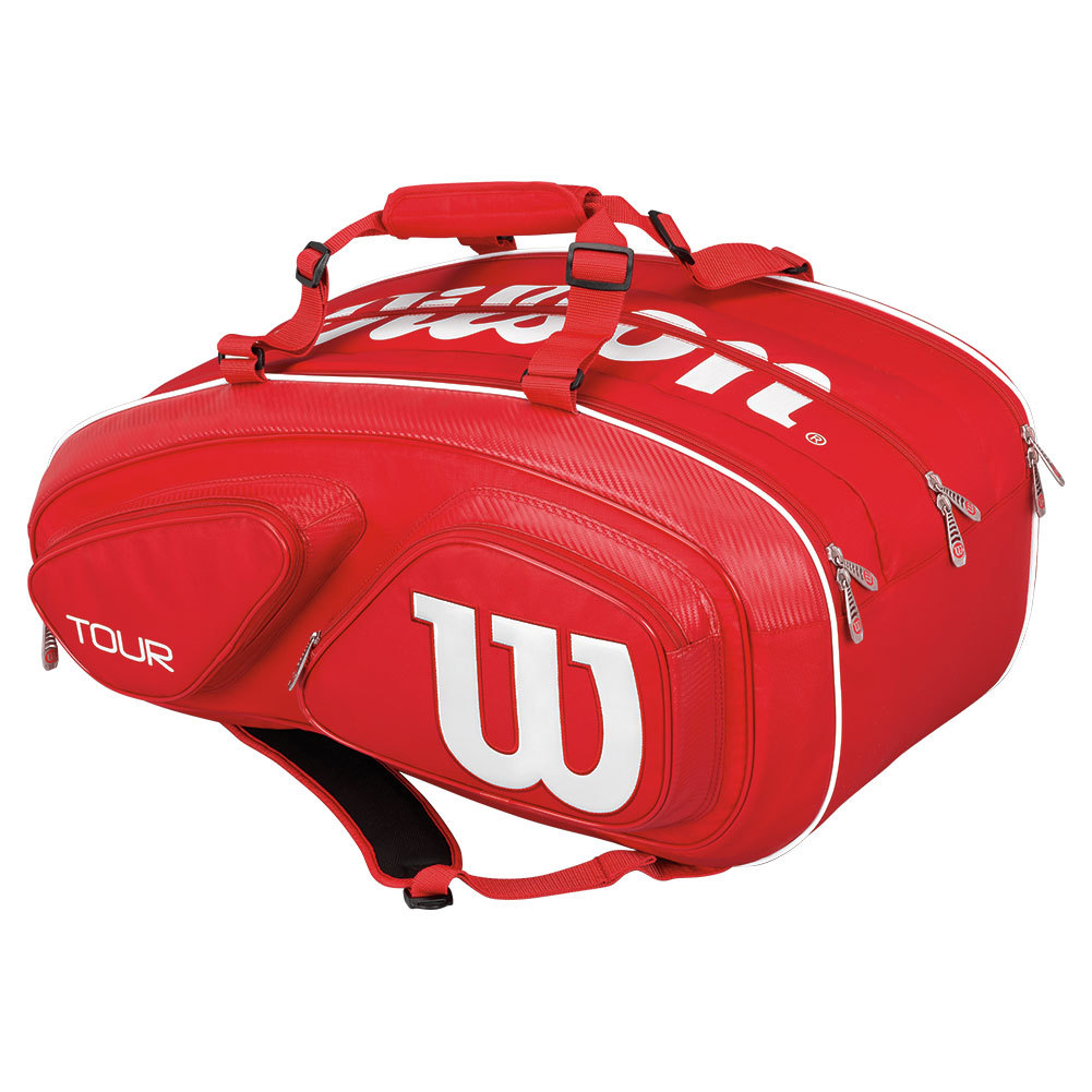 Wilson Tour V Tennis Bag with 3 Large Main Compartments & Soft Outer Shell – Available in 3 Colors